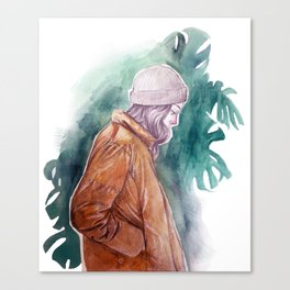 Winter girl in summer Canvas Print