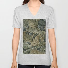 Art work of William Morris 3 Unisex V-Neck