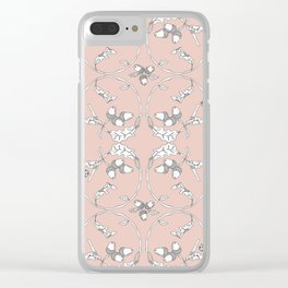 Acorns and ladybugs pink pattern Clear iPhone Case