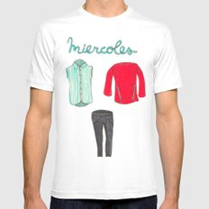 Miercoles outfit MEDIUM Mens Fitted Tee White
