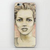 kate moss iPhone & iPod Skins featuring Kate Moss by Matthäus Rojek