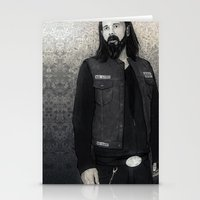 "sons of anarchy Stationery Cards featuring Sons Of Anarchy ""Opie Winston"" by Steal This Art"