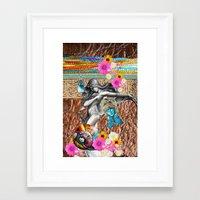 boho Framed Art Prints featuring BoHo Bling by Joke Vermeer
