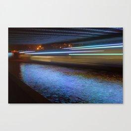 Into the Berlin Blue Night Canvas Print