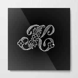 K Monogram Metal Print