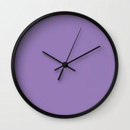 Lavender Purple - solid color Wall Clock