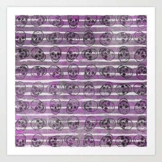 Grunge Skulls Art Print