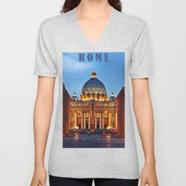 SAINT PETER'S CATHEDRALE in ROME Unisex V-Neck