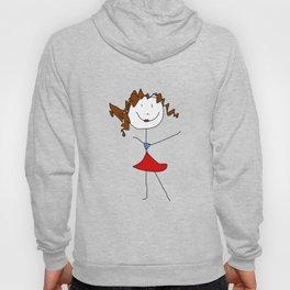 Girl in red skirt Hoody