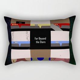 DS9 - Far Beyond the Stars - square - Minimalist Star Trek DS9 Deep Space Nine - Crew Rectangular Pillow