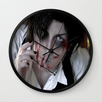 kuroshitsuji Wall Clocks featuring Claude Faustus by Lalasosu2