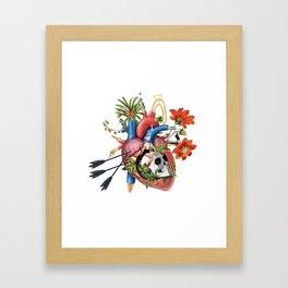 Riding wild felings Framed Art Print