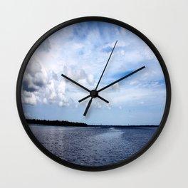 Lake Wimico Wall Clock