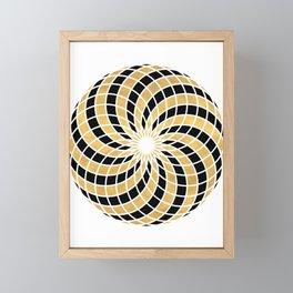 BLACK AND GOLD TORUS circular sacred geometry Framed Mini Art Print