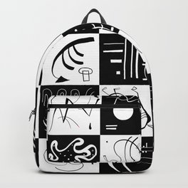 Kandinsky - Black and White Pattern - Abstract Art Backpack