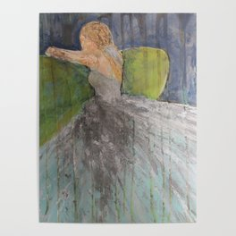 Green Couch Bride Poster