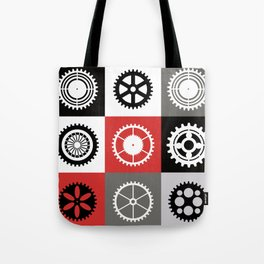 A mosaic consisting of gear of different color Tote Bag