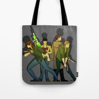 supernatural Tote Bags featuring Supernatural by Justyna Rerak