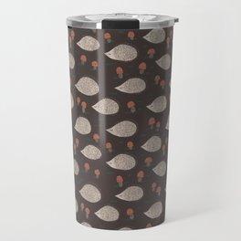 Hedgehogs and Mushrooms Love Autumn Travel Mug