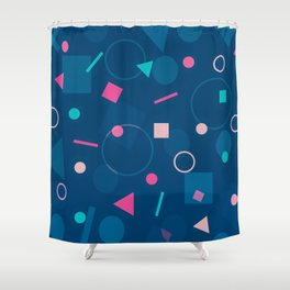 Abstract Geometric Pattern Shower Curtain
