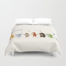 little parade Duvet Cover