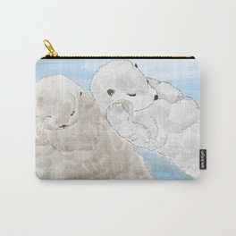 Otters hold hands Carry-All Pouch