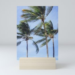 Caribbean Palm Trees in Puerto Rico Mini Art Print