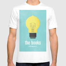The Books Mens Fitted Tee MEDIUM White