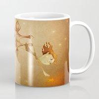 star Mugs featuring Star by José Luis Guerrero