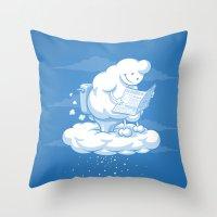 snowflake Throw Pillows featuring Snowflake by Murat Özkan