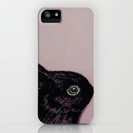 Black Bunny iPhone Case