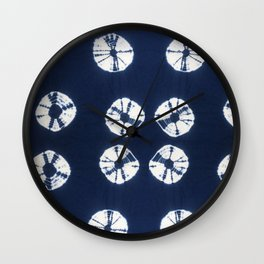 Indigo Blue Tie Dye Fantasy Wall Clock