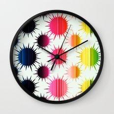 Urchin Pattern Wall Clock