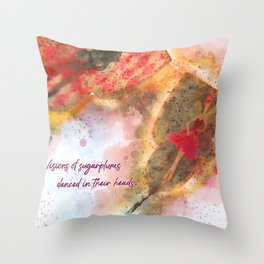 Visions of sugarplums Throw Pillow