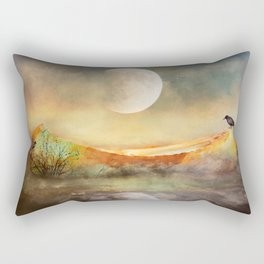 By the Light of the Crow Moon Rectangular Pillow