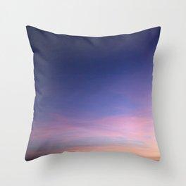 Purple like Moonlight Sky Throw Pillow