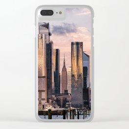 Sunset at Hudson Yards Midtown Manhattan 2019 Clear iPhone Case