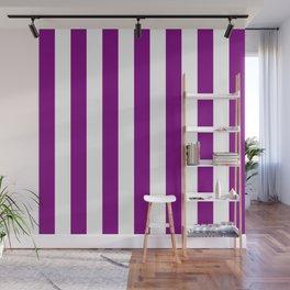 Vertical Stripes (Purple/White) Wall Mural