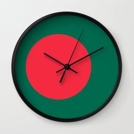 Flag of Bangladesh, High Quality Image Wall Clock