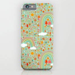 Spring Rainbow Print iPhone Case