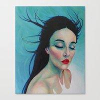 swallow Canvas Prints featuring Swallow by Bridget Baldwin