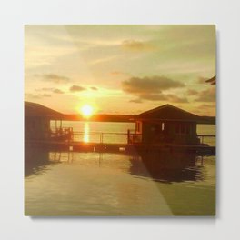 FLOATING_HOUSE Metal Print