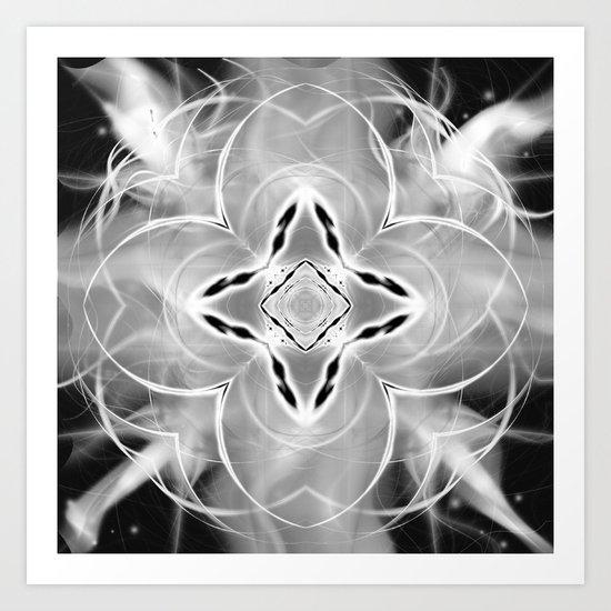 Silver Ornament at Night Art Print