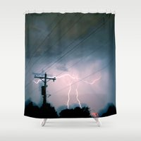 pi Shower Curtains featuring Pi ~ 3.14 by bobtheberto