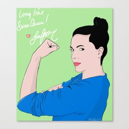 Long live Swan Queen! Canvas Print