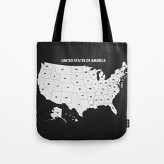 Black & White U.S.A. Map Tote Bag