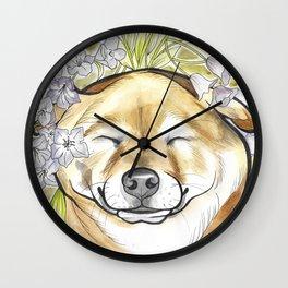 Jay Jay the happy Shiba Wall Clock
