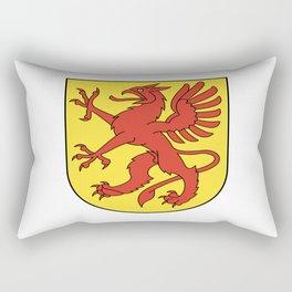 Dragon crest flag swiss griffin Rectangular Pillow