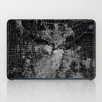 kansas city iPad Cases featuring Kansas City map by Line Line Lines