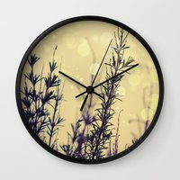 fireflies Wall Clocks featuring Fireflies by Kanelov